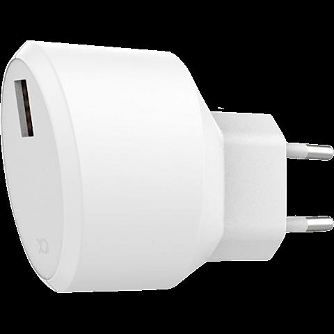 xqisit Ladegerät 2,4A Single USB Weiss 99928167 vorne