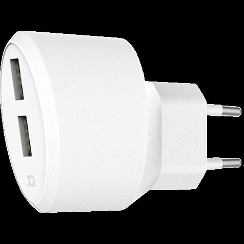 xqisit Ladegerät 3,4A Dual USB Weiss 99928168 hero