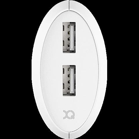 xqisit Ladegerät 3,4A Dual USB Weiss 99928168 hinten