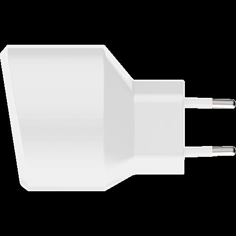 xqisit Ladegerät 3,4A Dual USB Weiss 99928168 seitlich
