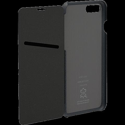 TECFLOWER andi be free Leder Booklet Schwarz Apple iPhone 8 Plus 99928229 hinten