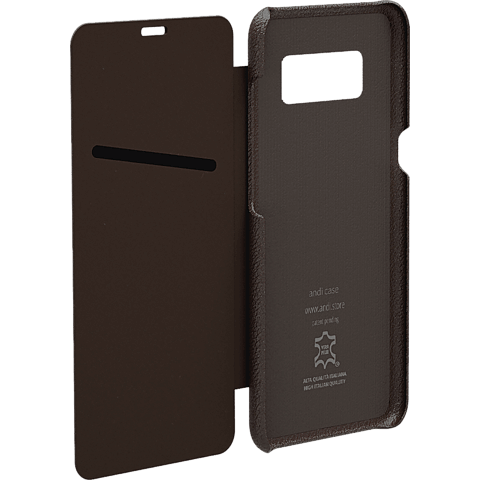 TECFLOWER andi be free Leder Booklet Braun Samsung Galaxy S8 99928219 hinten