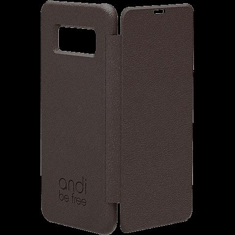 TECFLOWER andi be free Leder Booklet Braun Samsung Galaxy S8 99928219 vorne