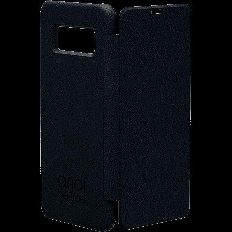TECFLOWER andi be free Leder Booklet Schwarz Samsung Galaxy S8 99928220 vorne