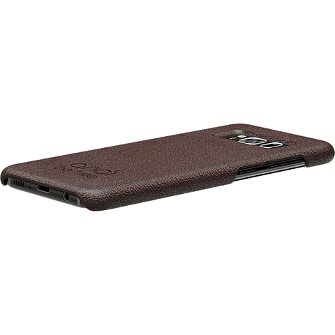 TECFLOWER andi be free Leder Cover Braun Samsung Galaxy S8+ 99928221 seitlich