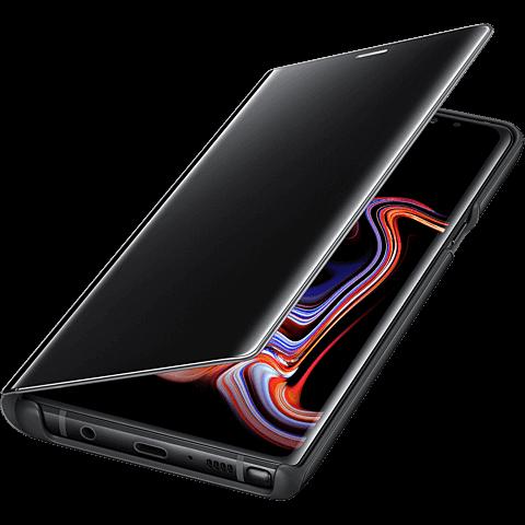 Samsung Clear View Cover Galaxy Note9 - Schwarz 99928288 seitlich