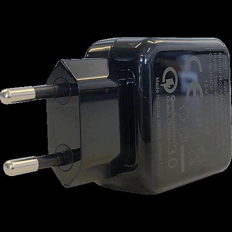 TECFLOWER andi be free Schnellladegerät QC 3.0 Schwarz 99928243 seitlich