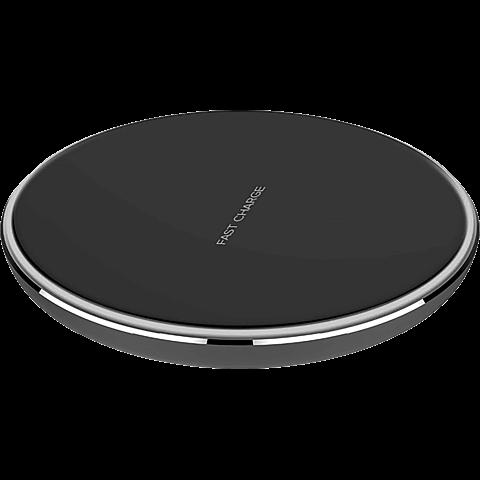 xqisit Induktive Schnellladestation 10W mit LED-Ring - Schwarz 99928170 vorne