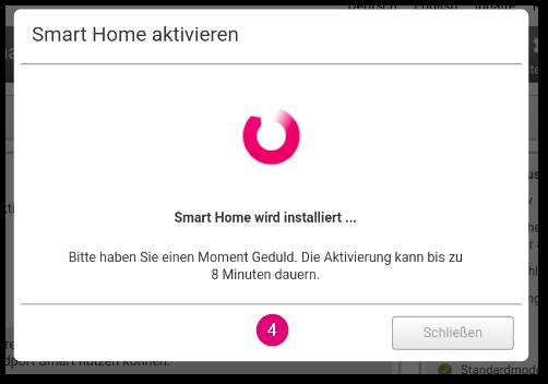 SmartHome über Speedport Smart aktivieren Schritt 4