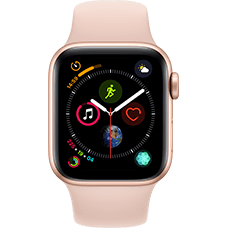 Apple Watch Series 4 Aluminium-40 mm, Armband-Sport-Sandrosa, GPS und Cellular Gold Katalog