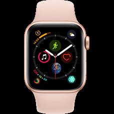 Apple Watch Series 4 Aluminium-40 mm, Armband-Sport-Sandrosa, GPS und Cellular Gold Katalog