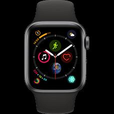 Apple Watch Series 4 Aluminium-40 mm, Armband-Sport-Schwarz, GPS und Cellular