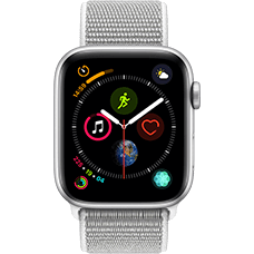 Apple Watch Series 4 Aluminium-44 mm, Armband-Sport Loop-Muschel, GPS und Cellular Silber Katalog