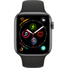 Apple Watch Series 4 Aluminium-44 mm, Armband-Sport-Schwarz, GPS und Cellular Space Grau Katalog