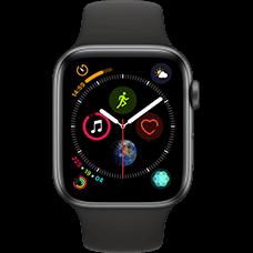 Apple Watch Series 4 Aluminium-44 mm, Armband-Sport-Schwarz, GPS und Cellular Space Grau Katalog