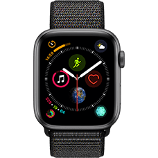Apple Watch Series 4 Aluminium-44 mm, Armband-Sport Loop-Schwarz, GPS und Cellular Space Grau Katalog