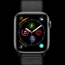 Apple Watch Series 4 Aluminium-44 mm, Armband-Sport Loop-Schwarz, GPS und Cellular Space Grau Katalog