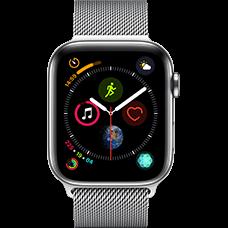 Apple Watch Series 4 Edelstahl-44 mm, Armband-Milanaise-Silber, GPS und Cellular Silber Katalog