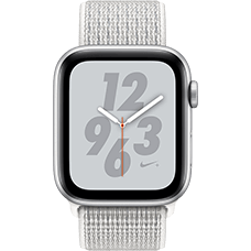 Apple Watch Series 4 Nike+ Aluminium-44 mm, Armband-Nike Sport Loop-Summit White, GPS und Cellular Silber Katalog