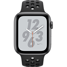 Apple Watch Series 4 Nike+ Aluminium-44 mm, Armband-Nike Sport-Anthrazit/Schwarz , GPS und Cellular Space Grau Katalog