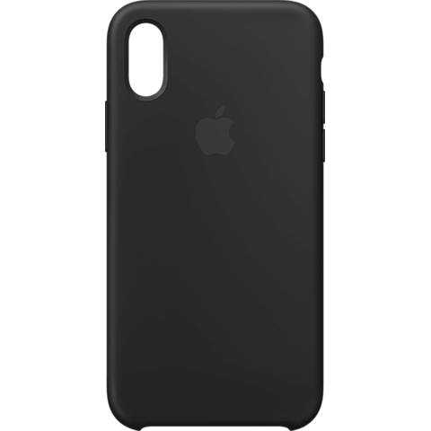 Apple Silikon Case iPhone XS - Schwarz 99928438 vorne