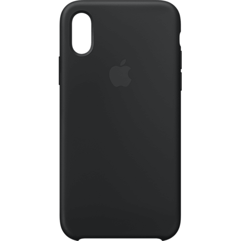 Apple Silikon Case iPhone XS - Schwarz 99928438 hero