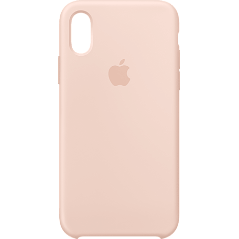 Apple Silikon Case iPhone XS - Sandrosa 99928439 vorne
