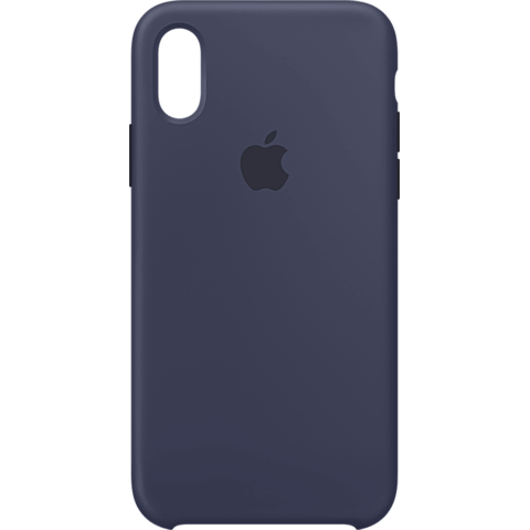 Apple Silikon Case iPhone XS - Mitternachtsblau 99928440 vorne