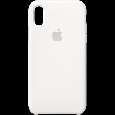 Apple Silikon Case iPhone XS - Weiss 99928441 vorne