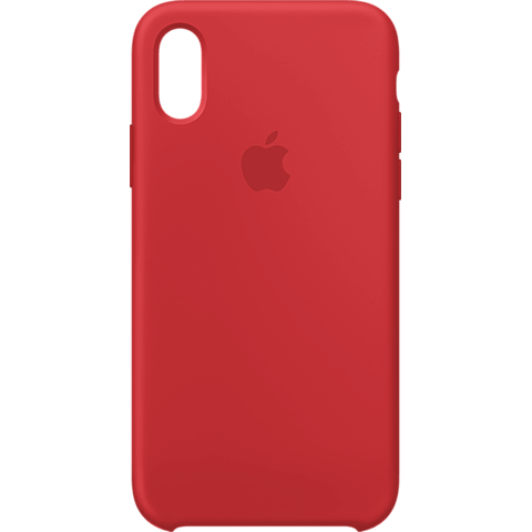 Apple Silikon Case iPhone XS - Product Red 99928442 vorne