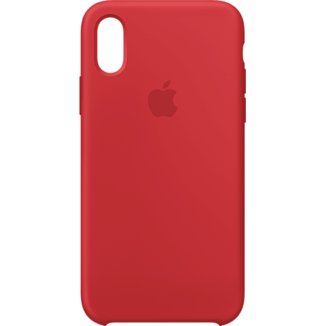 Apple Silikon Case iPhone XS - Product Red 99928442 hero