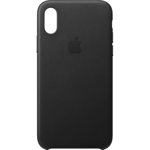 Apple Leder Case iPhone XS - Schwarz 99928443 vorne
