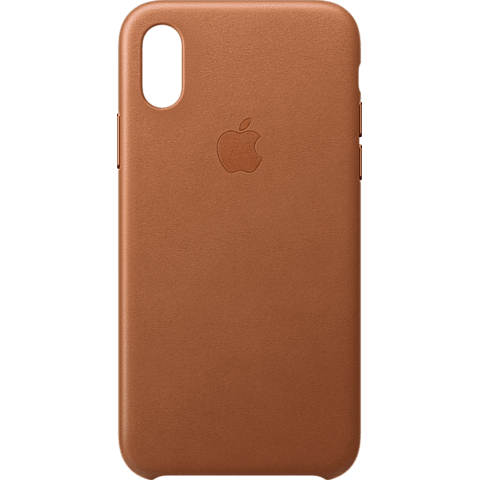 Apple Leder Case iPhone XS - Sattelbraun 99928444 vorne