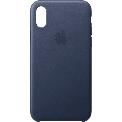 Apple Leder Case iPhone XS - Mitternachtsblau 99928445 vorne