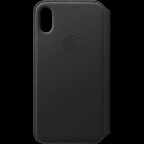 Apple Leder Folio Case iPhone XS - Schwarz 99928476 hero