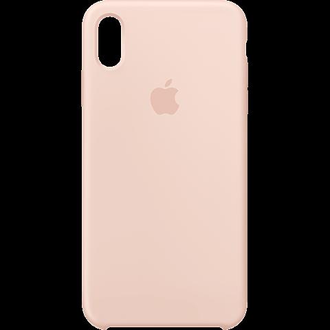 Apple Silikon Case iPhone XS Max - Sandrosa 99928478 vorne