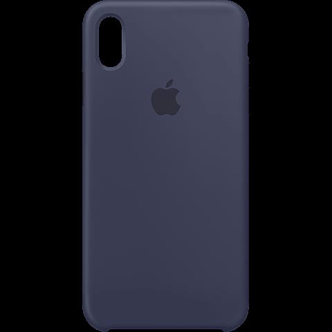 Apple Silikon Case iPhone XS Max - Mitternachtsblau 99928479 vorne