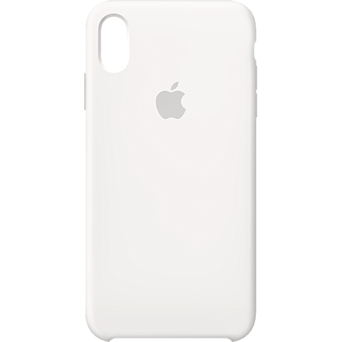 Apple Silikon Case iPhone XS Max - Weiss 99928480 vorne