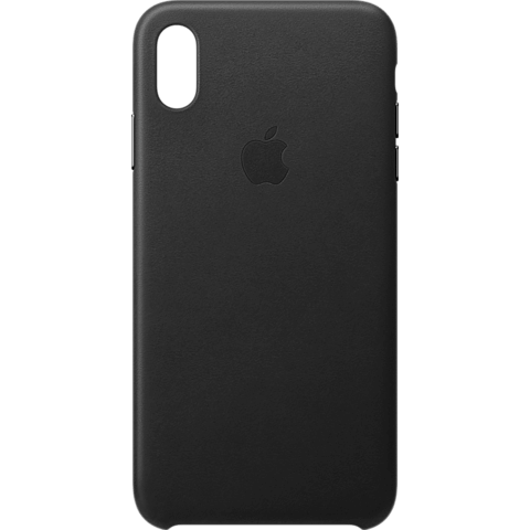Apple Leder Case iPhone XS Max - Schwarz 99928482 vorne