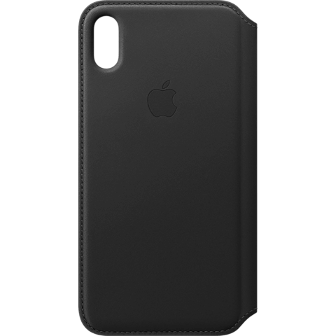 Apple Leder Folio Case iPhone XS Max - Schwarz 99928485 vorne