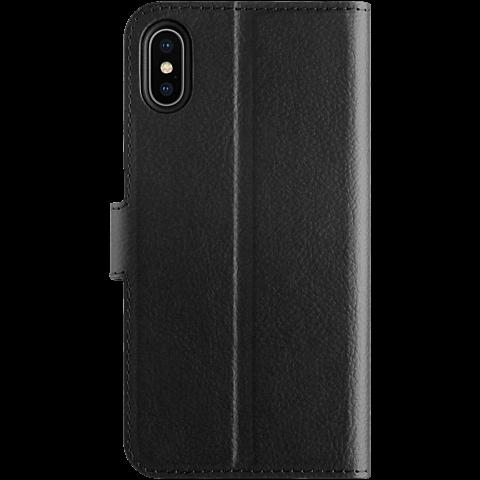 xqisit Slim Wallet Selection Apple iPhone XS Max - Schwarz 99928324 hinten