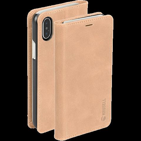 Krusell Sunne 4 Card Folio Wallet Apple iPhone XS Max - Nude 99928342 seitlich