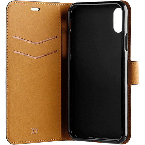 xqisit Slim Wallet Selection Apple iPhone XR - Schwarz 99928323 seitlich