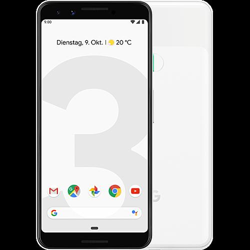 Google Pixel 3 Clearly White Vorne und Hinten