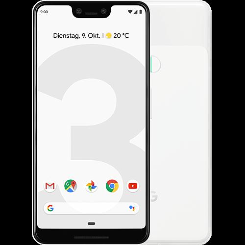 Google Pixel 3 XL Clearly White Vorne und Hinten