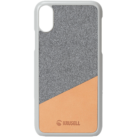 Krusell Tanum Cover Apple iPhone XS Max - Grey Nude 99928358 vorne