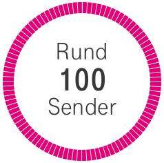 Rund 100 Sender