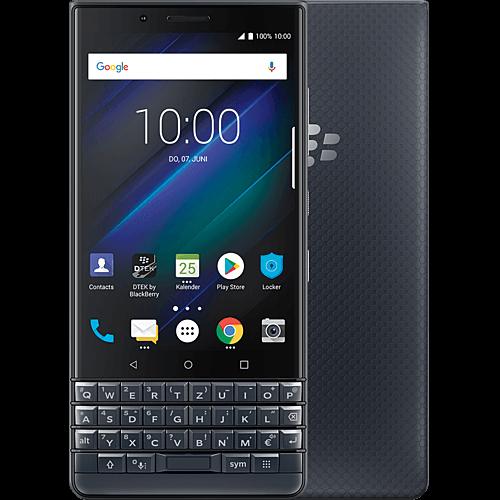 BlackBerry KEY2 LE Schwarz Vorne und Hinten