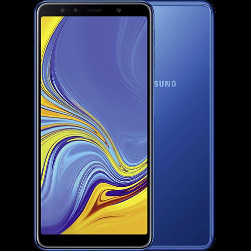 Samsung Galaxy A7 Blau Vorne und Hinten