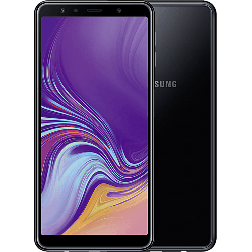 Samsung Galaxy A7 Schwarz Vorne und Hinten